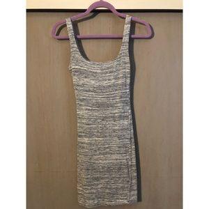 naked wardrobe gray mini dress